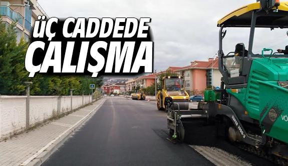 Üç cadde yenilendi