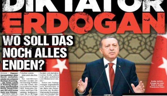 Alman Bild gazetesinden skandal manşet!