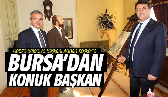 Başkan Köşker'e Bursa'dan konuk başkan