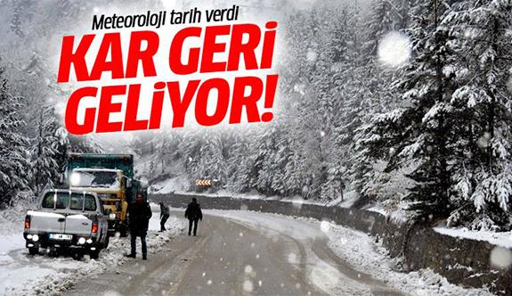 Çarşamba günü Kocaeli'ye kar geliyor!