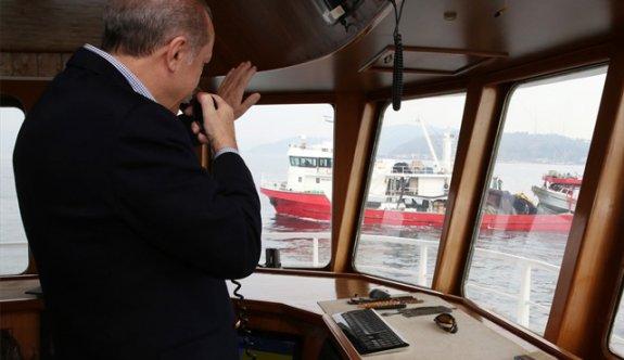 Cumhurbaşkanı Erdoğan balıkçılarla ava çıktı