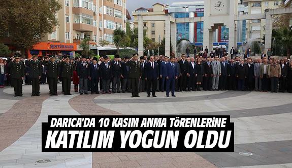 Darıca'da 10 Kasım Anma Törenlerine Katılım Yoğun Oldu