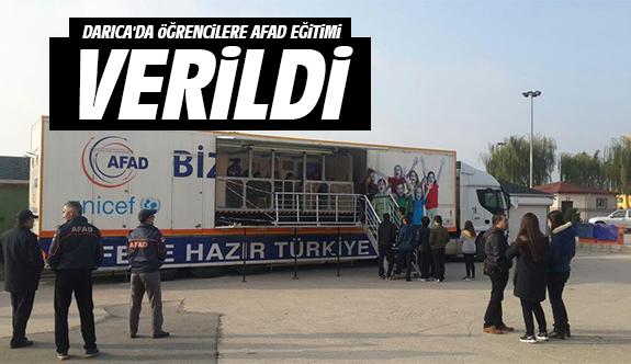 Darıca'da Öğrencilere Afad Eğitimi Verildi