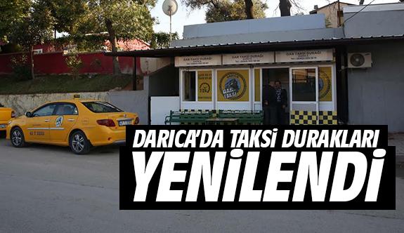 Darıca'da Taksi Durakları Yenilendi