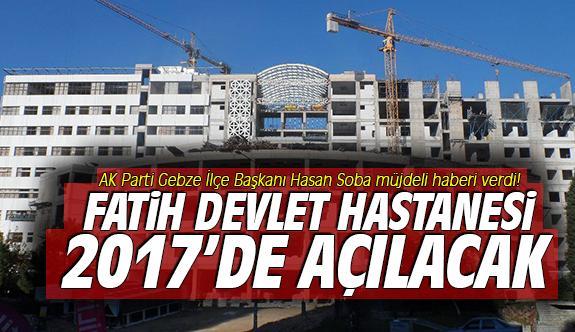 Fatih Devlet Hastanesi 2017'de Açılacak