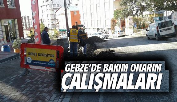 Gebze'de bakım onarım çalışmaları