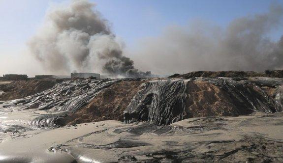 Irak'ın petrolü aylardır yanıyor