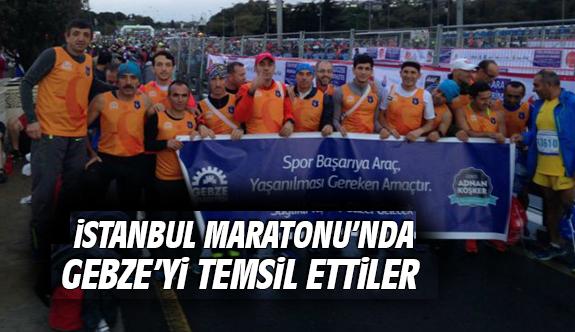 İstanbul Maratonu'nda Gebze'yi Temsil Ettiler