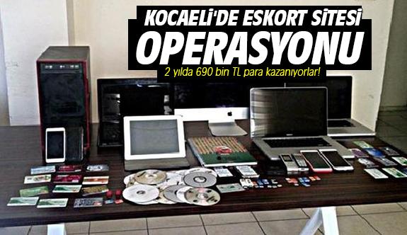 Kocaeli'de eskort sitesi operasyonu