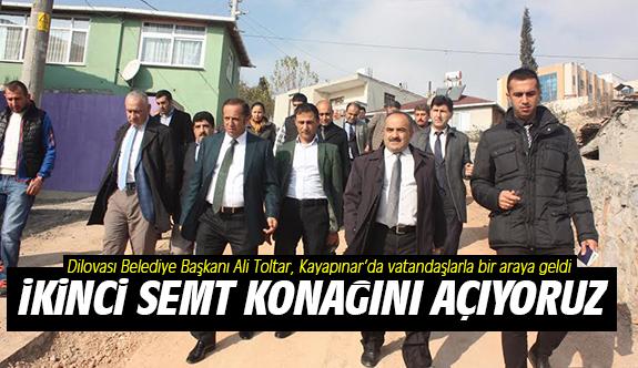 Toltar, Kayapınar'da vatandaşlarla bir araya geldi