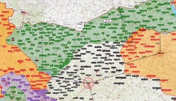 TSK Fırat Kalkanı haritasını yayınladı
