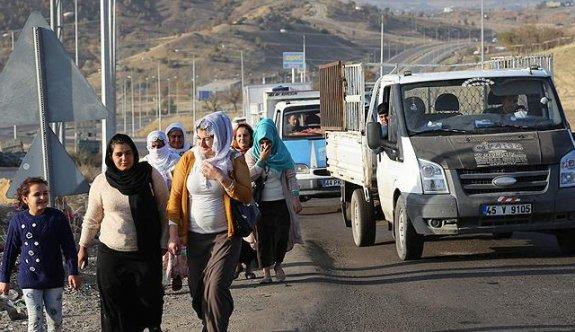 Yasağın kalkmasıyla Şırnak'a dönüş başladı
