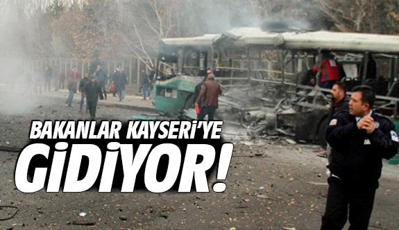 Bakanlar Kayseri'ye gidiyor