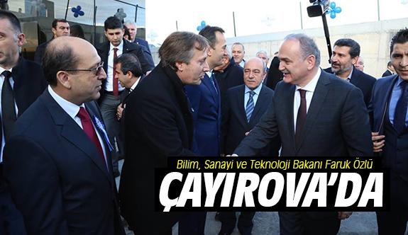 Bilim, Sanayi ve Teknoloji Bakanı Özlü Çayırova'da