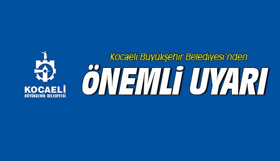 Büyükşehir'den önemli duyuru!