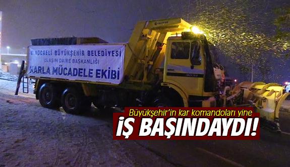 Büyükşehir'in kar komandoları yine iş başındaydı