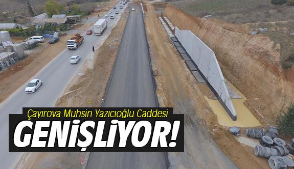Çayırova Muhsin Yazıcıoğlu Caddesi genişliyor