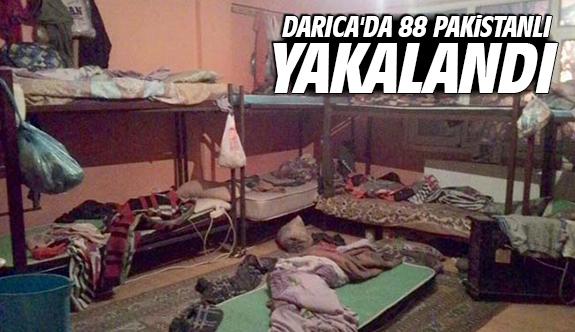 Darıca'da 88 Pakistanlı yakalandı