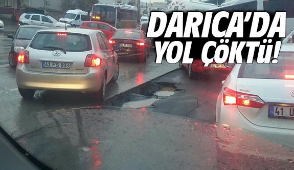 Darıca'da yol çöktü!
