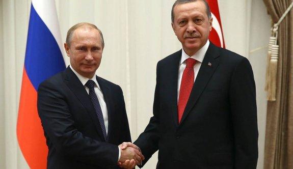 Erdoğan ile Putin'den telefon görüşmesi