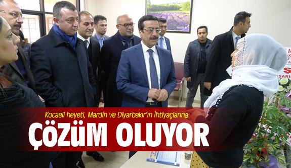 Kocaeli heyeti, Mardin ve Diyarbakır'ın İhtiyaçlarına çözüm oluyor
