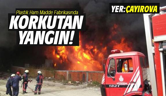 Plastik Ham Madde Fabrikasında Korkutan Yangın!