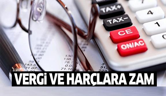 Vergi ve harçlara yüzde 3.83 zam