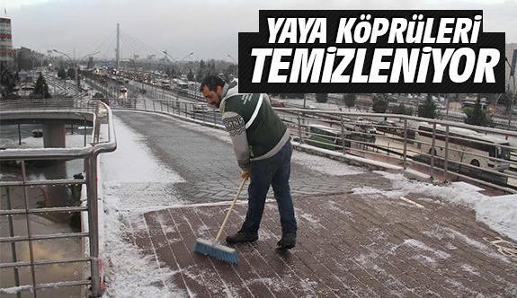 Yaya köprüleri temizleniyor