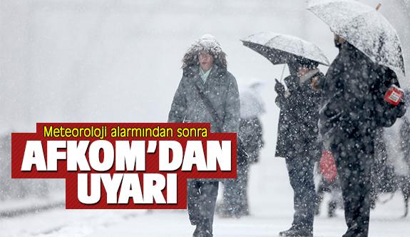 AFKOM'dan vatandaşlara soğuk hava ve kar uyarısı