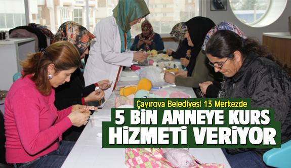 Çayırova Belediyesi 13 Merkezde 5 Bin Anneye Kurs Hizmeti Veriyor
