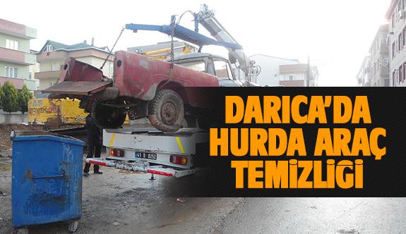 Darıca'da hurda araçlar bakımdan geçti