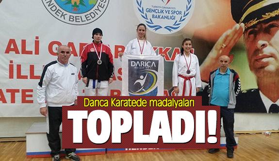 Darıca Karatede madalyaları topladı