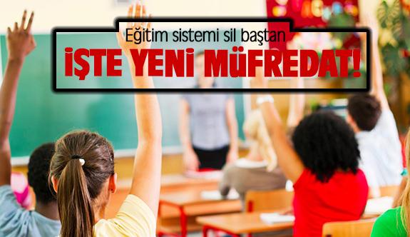 Eğitim sistemi sil baştan