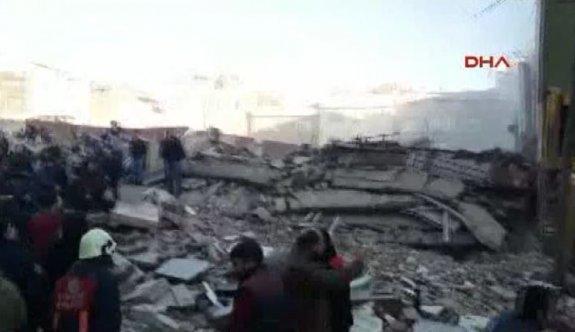 İstanbul'da 7 katlı bina çöktü!..