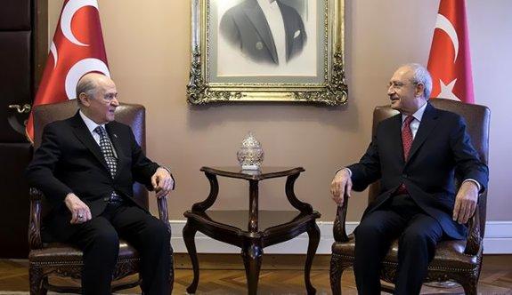 Kılıçdaroğlu, Meclis'te Bahçeli ile görüştü!