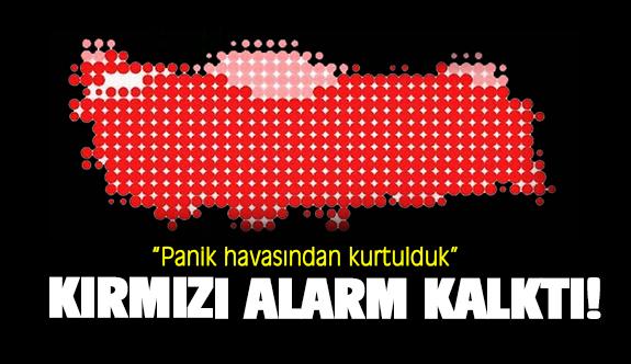 Kızılay: Kırmızı alarm kalktı