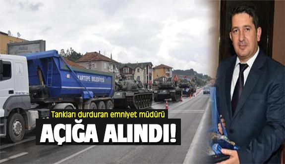 Kocaeli'de tankları durduran emniyet müdürü açığa alındı