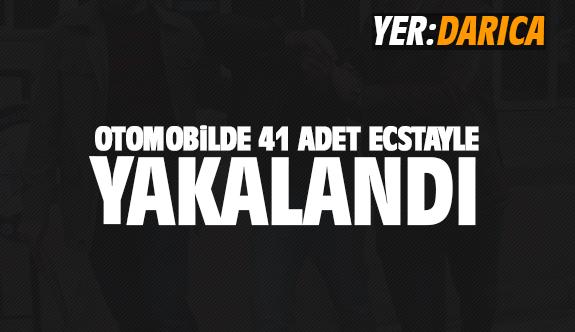 Otomobilde 41 adet Ecstasyle yakalandı!