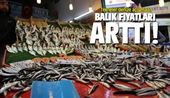 Tekneler denize açılamadı, balık fiyatları arttı