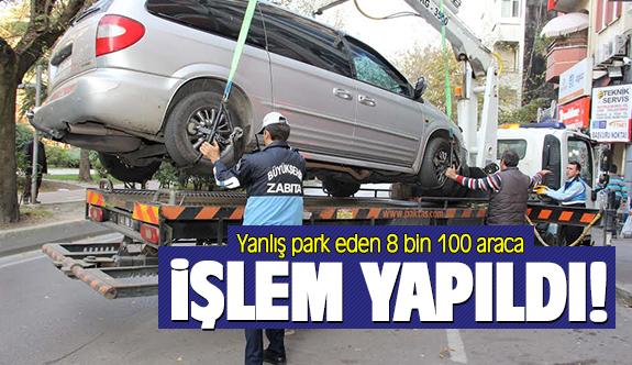 Yanlış park eden araçlara işlem yapıldı
