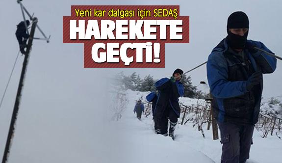 Yeni kar dalgası için SEDAŞ harekete geçti!