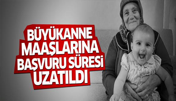 Büyükanne maaşına başvurular uzatıldı!