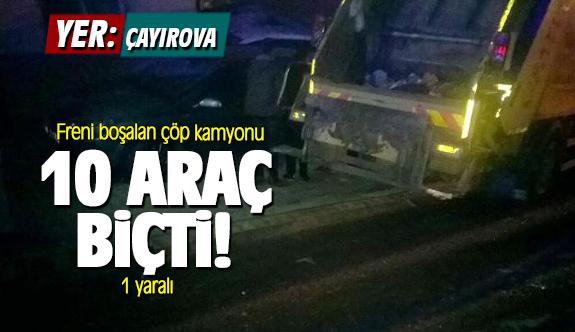 Çayırova'da freni boşalan kamyon önüne çıkan araçları biçti!