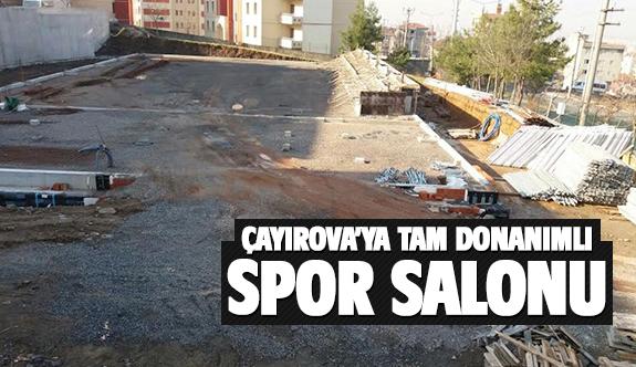 Çayırova'ya tam donanımlı spor salonu