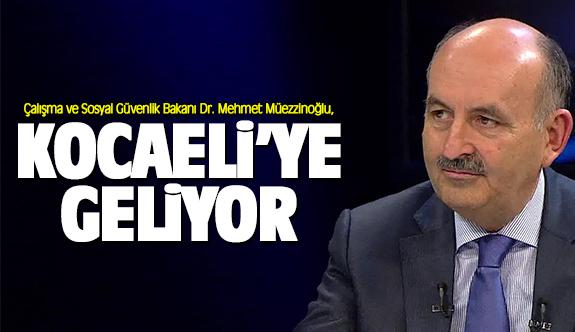 Dr. Mehmet Müezzinoğlu, Kocaeli'ye geliyor