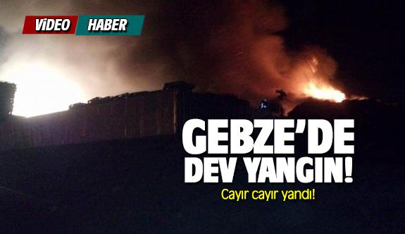 Gebze'de paletçi yangını!