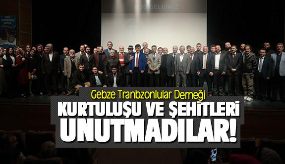 Gebze Trabzonlular derneği Kurtuluşu ve şehitleri unutmadılar