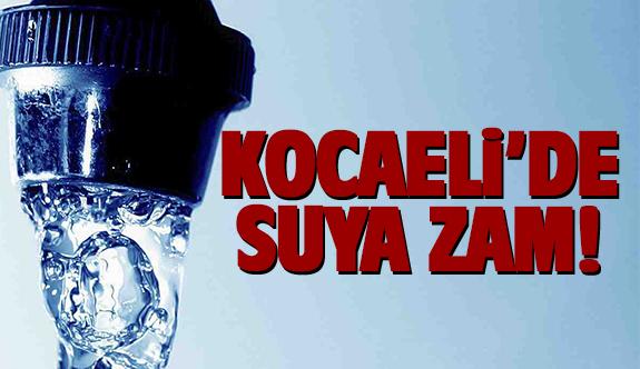 Kocaeli'de suya zam yapıldı
