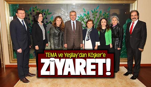 TEMA ve Yeşilay'dan Köşker'e ziyaret!