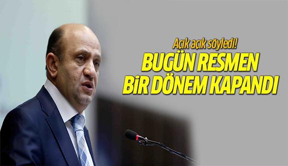 Türkiye'de resmen bir dönem kapandı